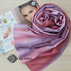 """Женский шифоновый шарф """"Линда"""" (розово-сиреневый) 105002"""