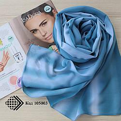 """Женский шифоновый шарф """"Линда"""" (бирюзовый) 105003"""