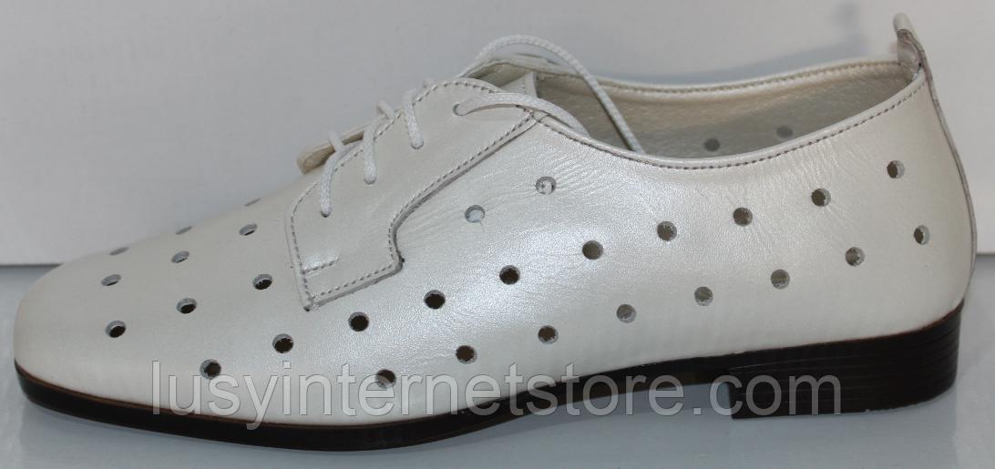 Туфли кожаные женские от производителя модель КЛ2155-2