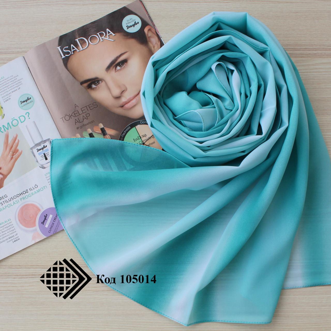 """Шифоновий шарф """"Лінда"""" (бірюзовий) 105014"""