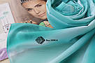"""Шифоновий шарф """"Лінда"""" (бірюзовий) 105014, фото 2"""