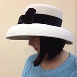Элегантная шляпка с большими  полями из  фетра, фото 2
