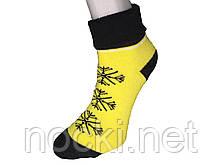 Шкарпетки жіночі махра Tommy відворот сніжинка