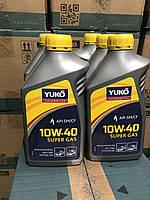 Моторное масло полусинтетика YUKO SUPER GAS 10W-40 API SM/CF 1л