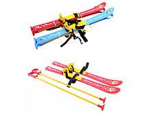 Лыжи детские с палками Технок 78*14*12 см