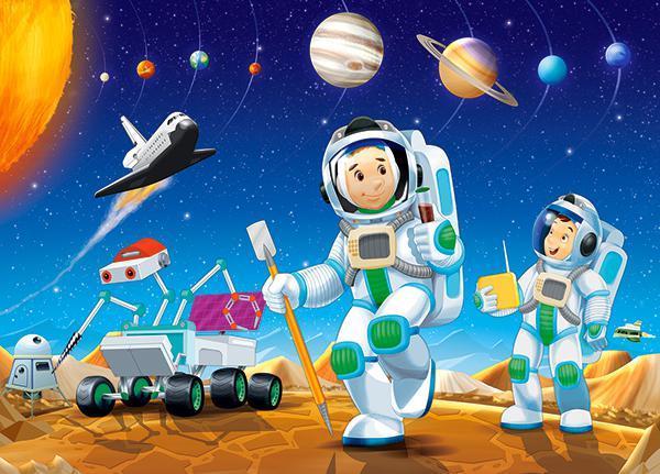 Пазлы Космонавты на 60 элементов