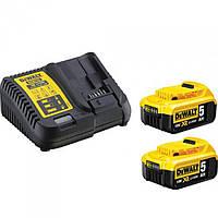 Зарядное устройство DeWalt DCB115 + 2 аккумулятора 18V (5Ah) (DCB115P2)