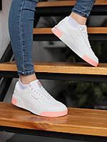 Женские кроссовки Puma Cali  White+Pink \ Пума Кали Белые \ Пума Калі Білі