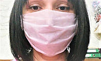 Защитная двухслойная лицевая маска 100 шт на резинках, белая