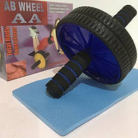 Тренажер колесо для пресса + коврик AB WHEEL AA 18см