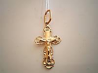 Ажурный золотой крестик 585 пробы