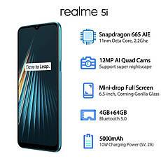 OPPO Realme 5i Global Version 4/64GB Aqua Blue, фото 3