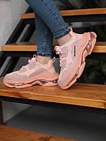 Кроссовки Balenciaga Triple S Pink \ Баленсиага Трипл С Розовые \ Кросівки Баленсіага Тріпл С Розові