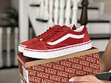 Женские кеды Vans,замшевые, красные, фото 2