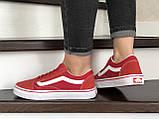 Женские кеды Vans,замшевые, красные, фото 4