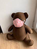 Маска для лица, Зайки на розовом, фото 1