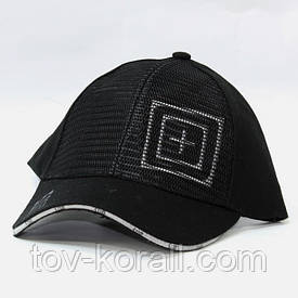 Бейсболка PRC с сеткой черная