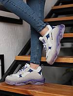 Кроссовки Balenciaga Triple S White+Purple \ Баленсиага Трипл С \ Кросівки Баленсіага Тріпл С