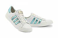Кроссовки женские Adidas Superstar (Адидас Суперстар), белые, код КЖ34-2012SA-W1