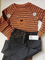 Нарядный бодик и штаники  для мальчика Carter's, размер 24М