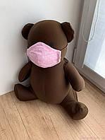 Маска для особи, Горошок на рожевому, фото 1