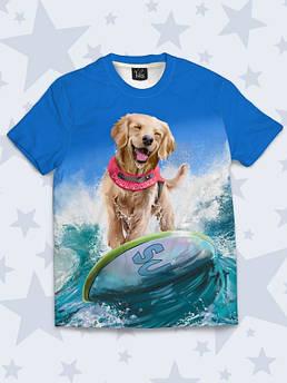 Футболка детская Собака серфер