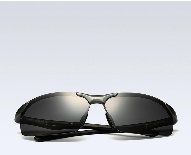 Очки мужские солнцезащитные поляризованные VEITHDIA оправа графит 6591/03