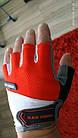 Велоперчатки Перчатки вело Красный Л BLACK FOREST