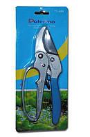 Секатор садовый для кустов и веток с храповым механизмом (225мм, косой срез 25мм) Polermo