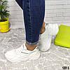 Белые кожаные женские кроссовки