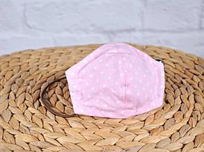 Маска для лица, Горошек на розовом
