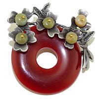 Брошка-кулон из сердолика, OM8486