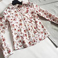 Рубашка-блуза женская в мелкие цветочки