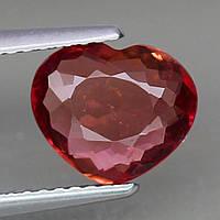 Натуральный Рубеллит сердце, фото 1