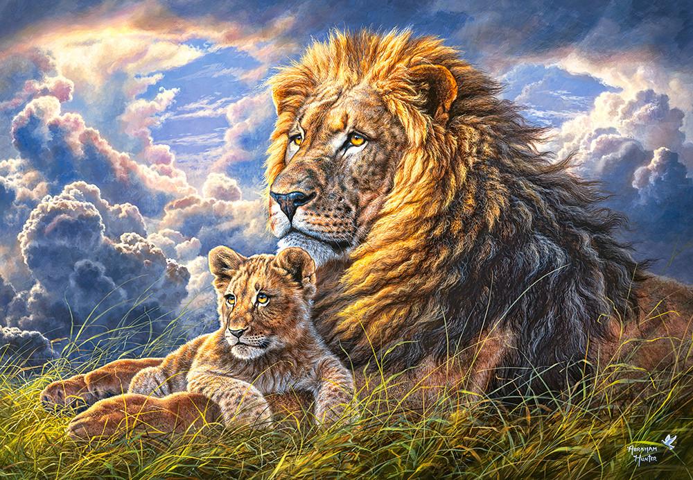 Пазли Сімейство левів на 1000 елементів