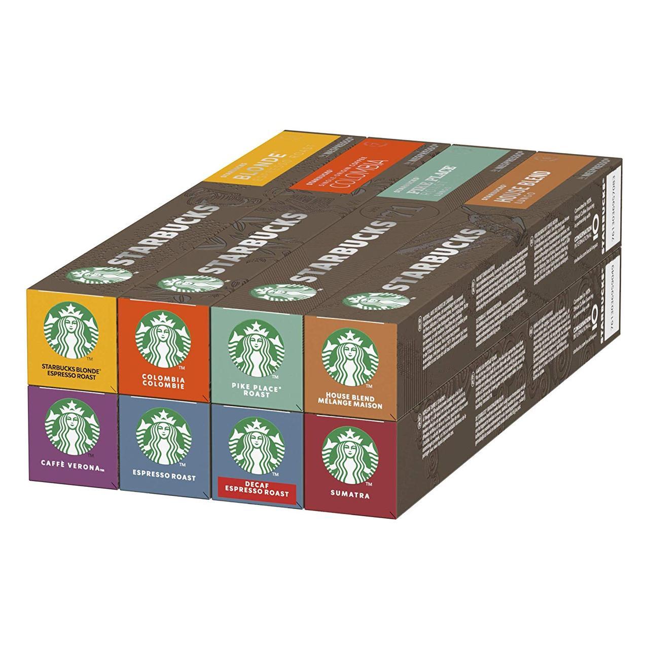 160грн/шт Кофе в капсулах Nespresso Starbucks Assorti -Неспрессо Старбакс Ассорти (8 видов тубусов по 10 капс)