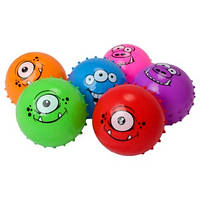 """Мяч 6"""" ежик BT-PB-0095 монстры 45г микс цветов 3шт.в сетке ш.к./100/"""