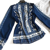Блуза женская легкая с длинным рукавом