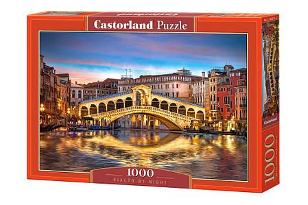 Пазлы Мост Риальто ночью, Венеция на 1000 элементов, фото 2