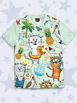 Детская футболка Коты в отпуске