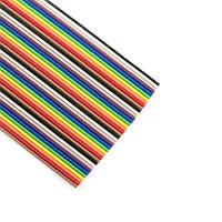 Шлейф цветной 40конт. шаг 1,27мм, многопроволочная луженая медь, 1 метр