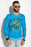Свитшот мужской с принтом AG-0011508 цвет Голубой варенка