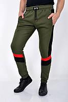 Мужские спортивные брюки на флисе 119R012 цвет Хаки