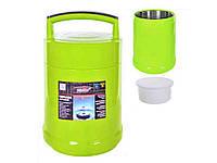Термос пищевой 1,5 литра с железной колбой (пищевой пластик) C-139 Shunxin