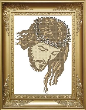 Схема для вишивки бісером Ісус в терні. Арт. КРМ-2