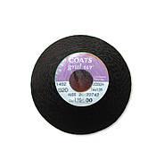 Нити COATS GRAL WR 20 2000 м черный (Великобритания) u9500 для кожи