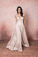Плаття женское в пол стильное красивое выпускное блестящее на свадьбу для свидетельницы для мамы на подарок