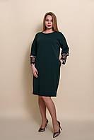 Элегантное женское платье больших размеров зеленого цвета. Размеры 52, 54, 56, 58.  Хмельницкий, фото 1