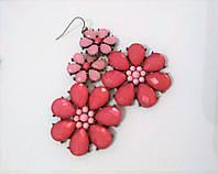 Серьги Цветы розовых оттенков, фото 1