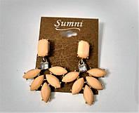 Сережки Квіти Персикові, фото 1